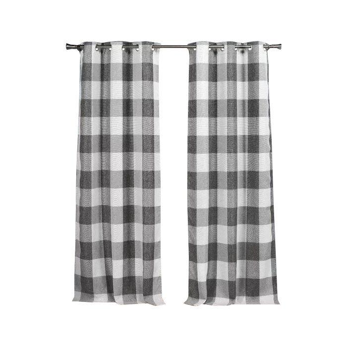 Rosenblum Plaid Blackout Thermal Grommet Curtain Panels Farmhouse Curtains Rustic Curtains Grommet Curtains