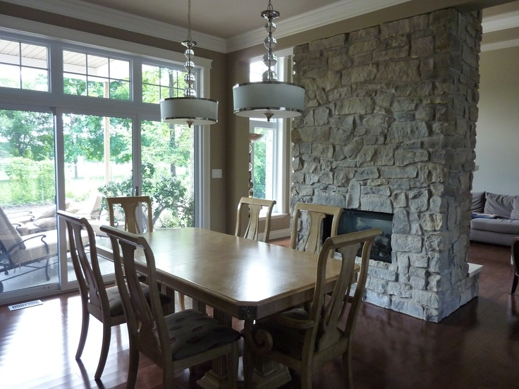 Fireplace in Dining-room