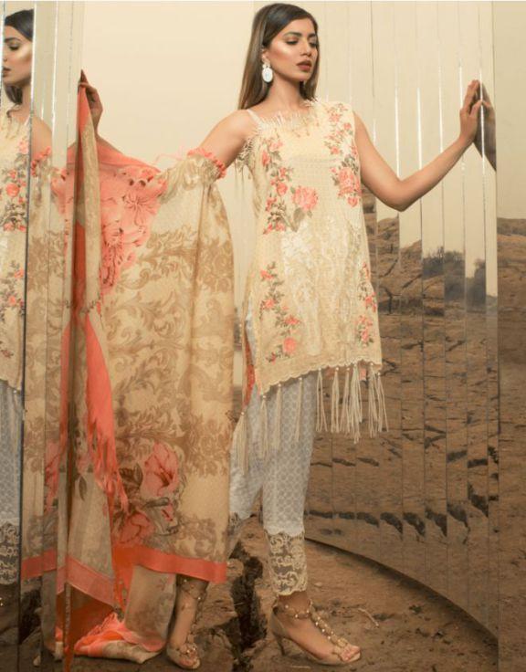 Readymade 3 Piece stitched Rang Rasiya Trouser /& Kameez in Lawn Replica