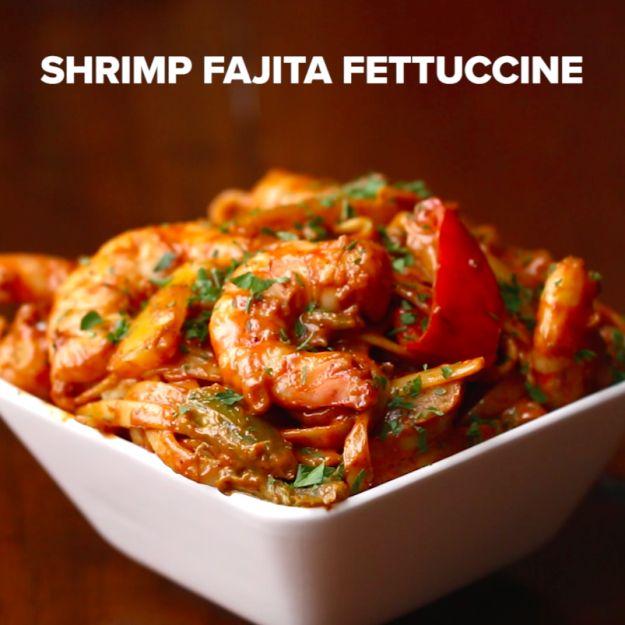 Shrimp Fajita Fettuccine