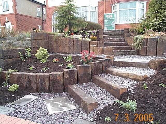 vertical sleepers vertical sleepers railway sleeper landscaping a page for kilgraneys customers to share their ideas photos and projects using