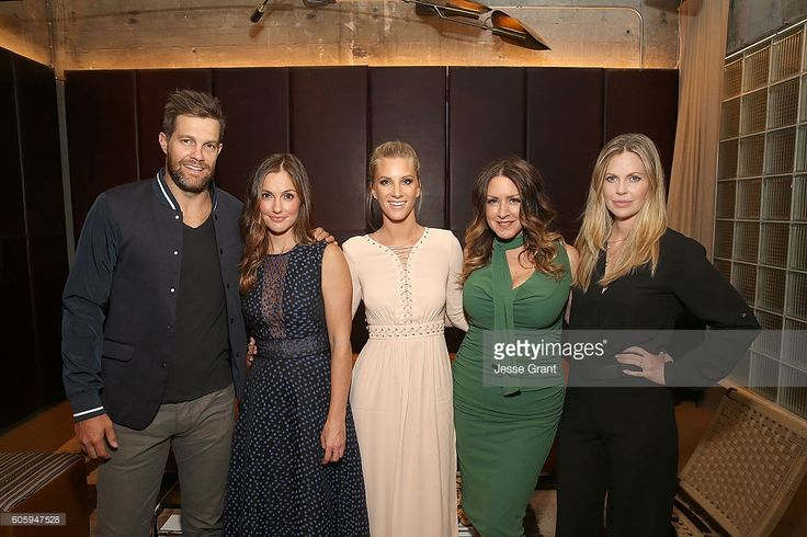 Actors Geoff Stults, Minka Kelly, Heather Morris, Joely Fisher and Kristin Bauer van Straten attend the screening pre-reception of Discovery Impact's 'Huntwatch' at NeueHouse Hollywood on September 15, 2016 in Los Angeles, California.