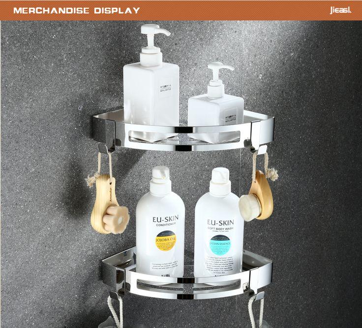 Decorative Stainless Steel Corner Shelf For Bathroom Decoration