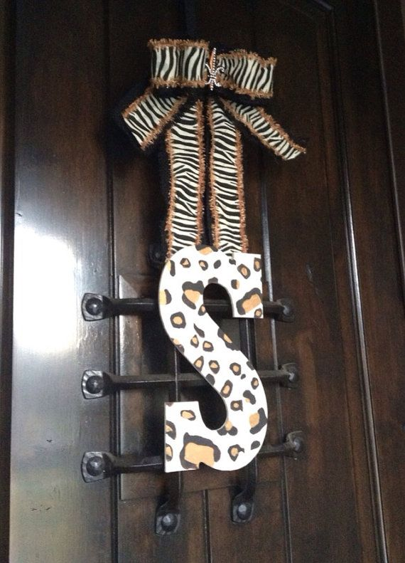 Leopard front door letter  on Etsy, $35.00