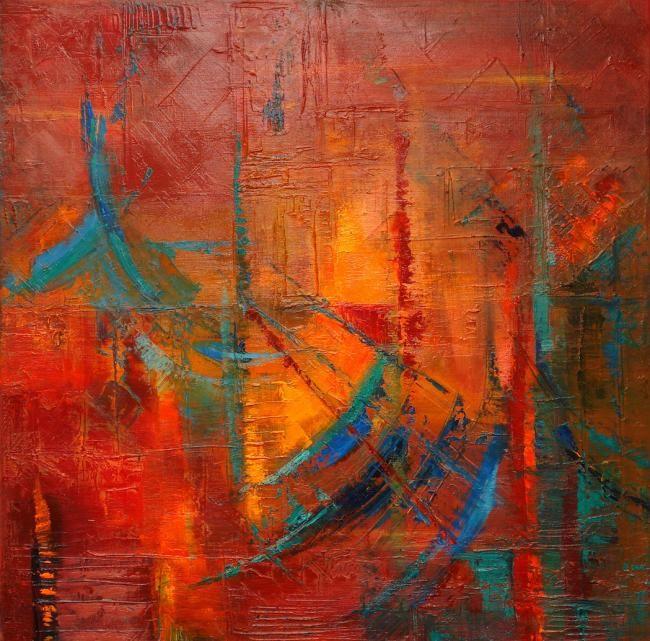 ABSTRACTO EN TURQUESA (Arte Abstracto)