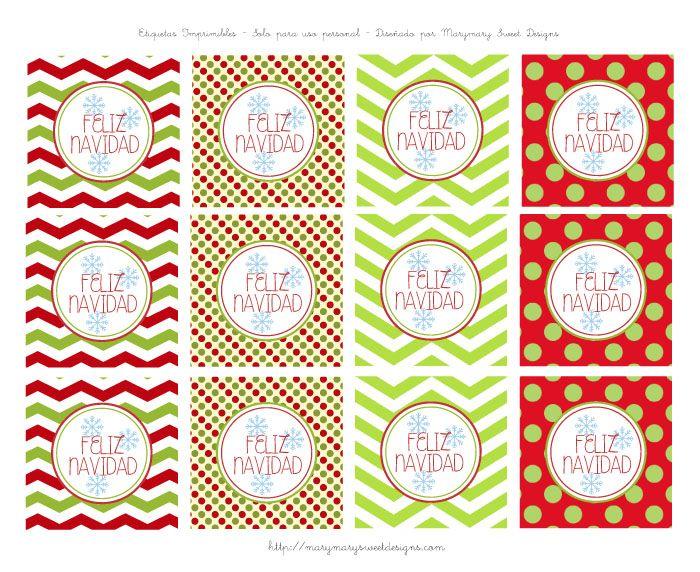 M s de 1000 ideas sobre etiquetas navide as en pinterest - Etiquetas para regalos para imprimir ...