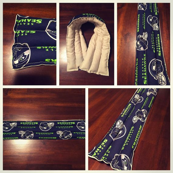 Heated & Cooling Neck Wrap  Seahawks by CarliCraftCollection