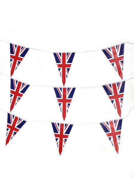 Union Jack Bunting - 25m | London Theme Party | British Theme | Event Prop Hire