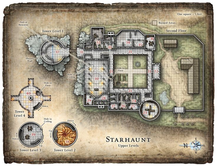 Dungeon Forest Castle Dark