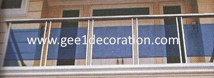 aluminium, kusen, kaca, partisi,  pintu, jendela, lipat, geser, swing, jungkit, pivot, sliding, : railing balkon