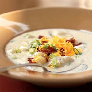 Baked Potato Soup | MyRecipes.com #MyPlate #vegetable #dairy