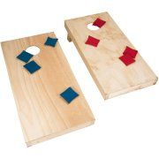 Hey! Play! Unfinished Regulation Size Wooden Cornhole Boards and Bags--sold thru Walmart