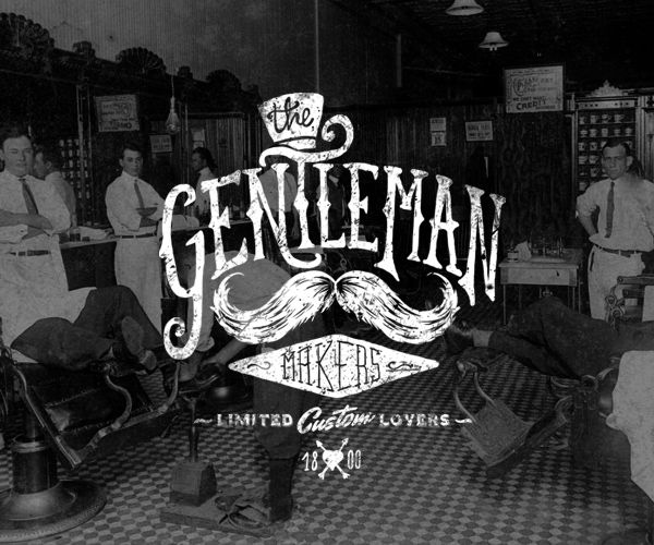 The Gentleman Makers - INDITEX T-SHIRTS. Amazing Typography.