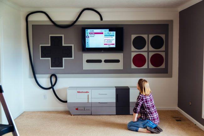 Elle a d'abord peint un rectangle gris au mur! Je suis tellement jalouse de ce qu'elle en a fait!! - Décoration - Des idées de décorations pour votre maison et le bureau - Trucs et Bricolages - Fallait y penser !
