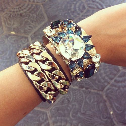 Chunky bracelets J'ADR: Bling, Goddesses Beautiful, Arm Candy, Bracelets Check, Style, Fashion Jewelry, Wrist Candy, Fashion Accessories, The Blondes Salad