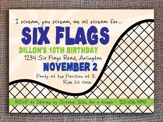 roller coaster birthday invitation digital file by kitsyco 13 50