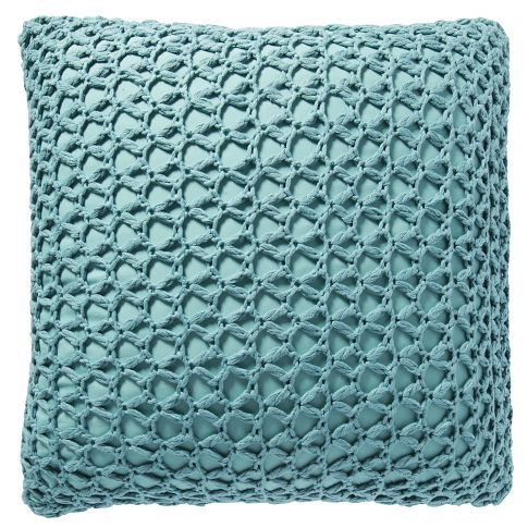 Aquamarine Knit Pillow Cover From West Elm Cottage