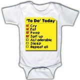To do today - Funny Baby One-piece Bodysuit by Funny Tots