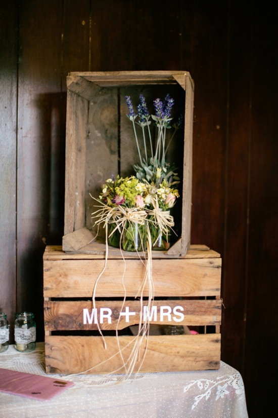 Wooden crate box caja de madera wedding boda decoration decoraci n wooden crates - Cajas madera para decorar ...