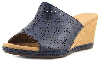 Clarks Helio Corridor Women Us 7.5 Blue Wedge Sandal.