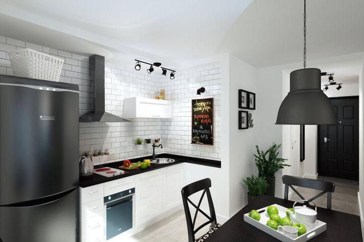 кухня в студии 33 кв. м.