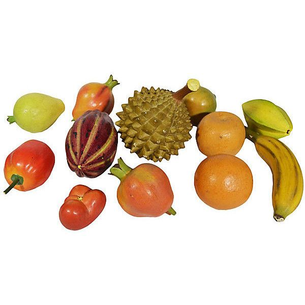 Pre-Owned Carved Wood Tropical Fruit 20 Pcs ($47) ❤ liked on Polyvore featuring home, home decor, decorative accessories, apple home decor, wood home decor, grapes home decor and wooden home decor