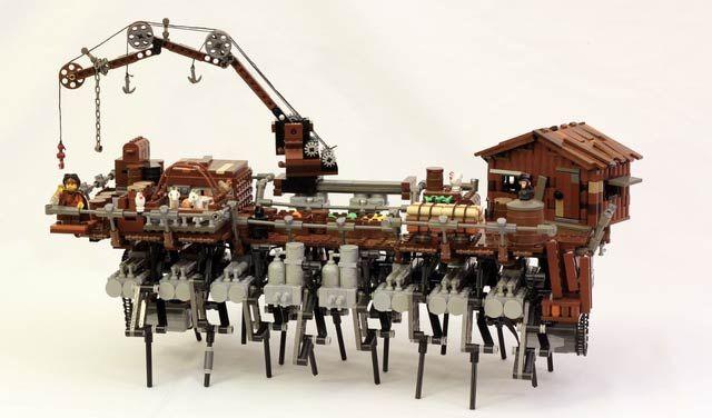 スチームパンク風をレゴで表現するっていうのも興味深いです。 レゴ作品には毎回驚かされますが、これは...