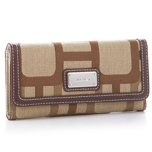 Nine West Reno Checkbook Wallet - Khaki/Brown