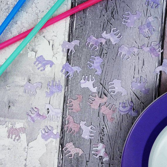 Lilac unicorn confetti Choose a colour: Blue purple mixed