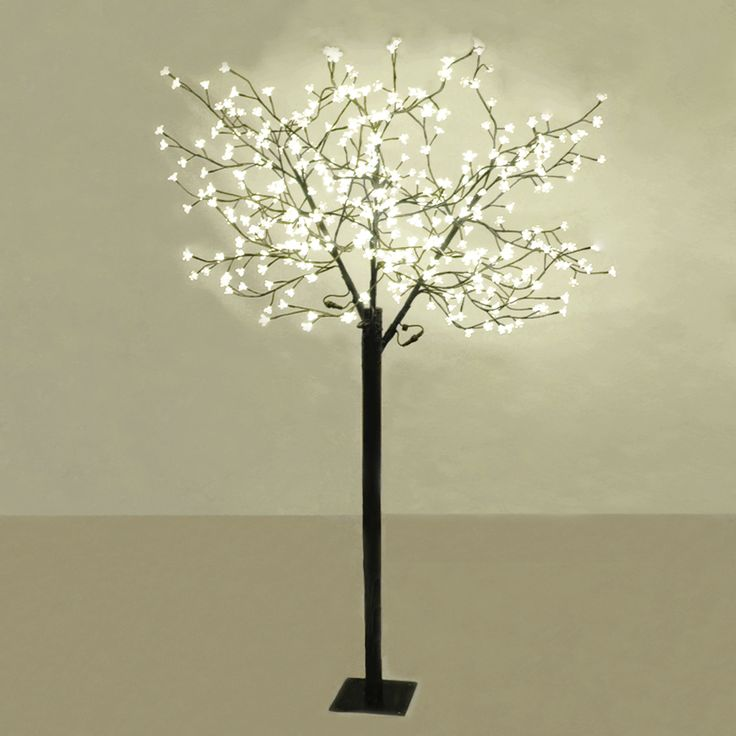 18m outdoor led cherry blossom tree 384 warm white led for Cherry tree floor lamp