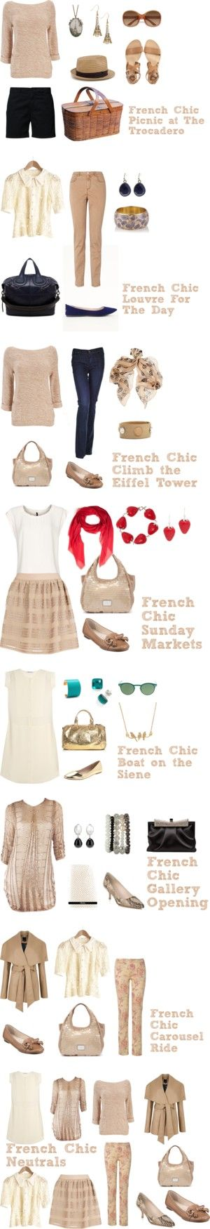 """French Chic: Neutrals {Day Wear}"" by bbeingcool-1 on Polyvore"