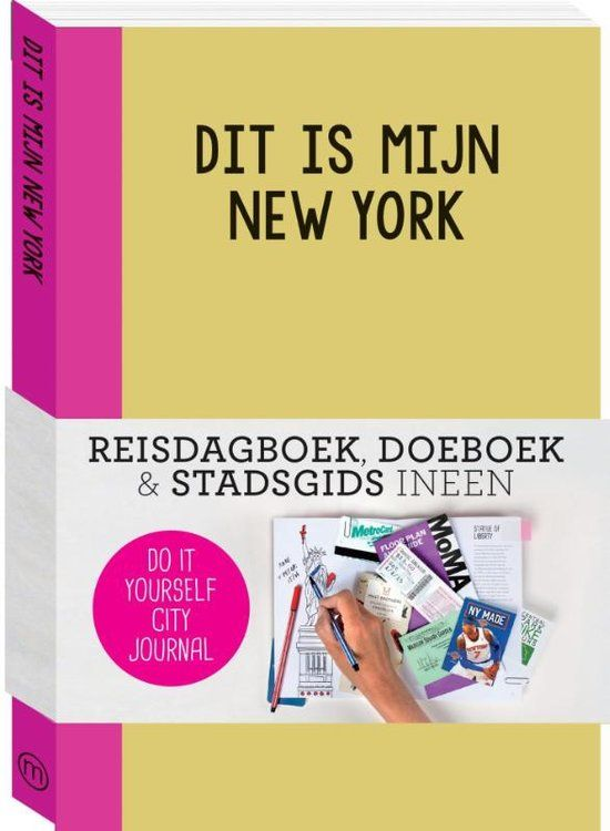 DIT IS MIJN NEW YORK IS EEN REISDAGBOEK, DOEBOEK EN STADSGIDS VAN NEW YORK INEEN. Het bevat mooie illustraties, leuke to-do-lijstjes en bijzondere weetjes over de stad. Maar het laat ook genoeg ruimte voor jouw verhalen, tekeningen, foto's, souvenirs, kaartjes, notities & tips voor jouw vrienden. Zo maak je van dit city journal een origineel bewaarboek voor jouw herinneringen aan New York. Enjoy!