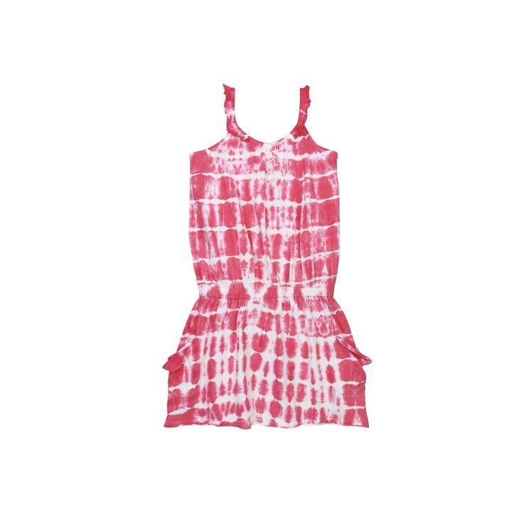 Baby Girl Burt's Bees Baby Organic Tie-Dye Dress, Size: 12 Months, Med Pink
