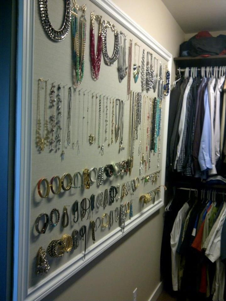 Stella & Dot Closet Jewelry board ---- Great idea to organize all your Stella and Dot. Sometimes if it's not visible you forget you have it...I like this!  www.stelladot.com/sites/nancydomichjewelry
