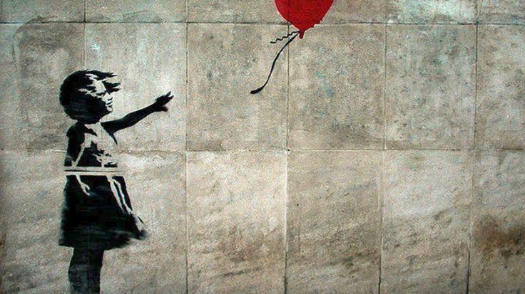 Ο Βρετανός καλλιτέχνης αποτύπωσε με στένσιλ πάνω στην πρόσοψη ενός καταστήματος στο Σόρντιτς το 2002