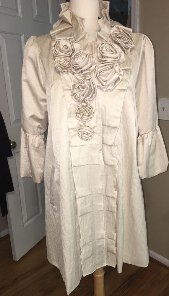 Anthropologie Ryu:  Women's Formal Jacket Large Pleated Roset New  | eBay