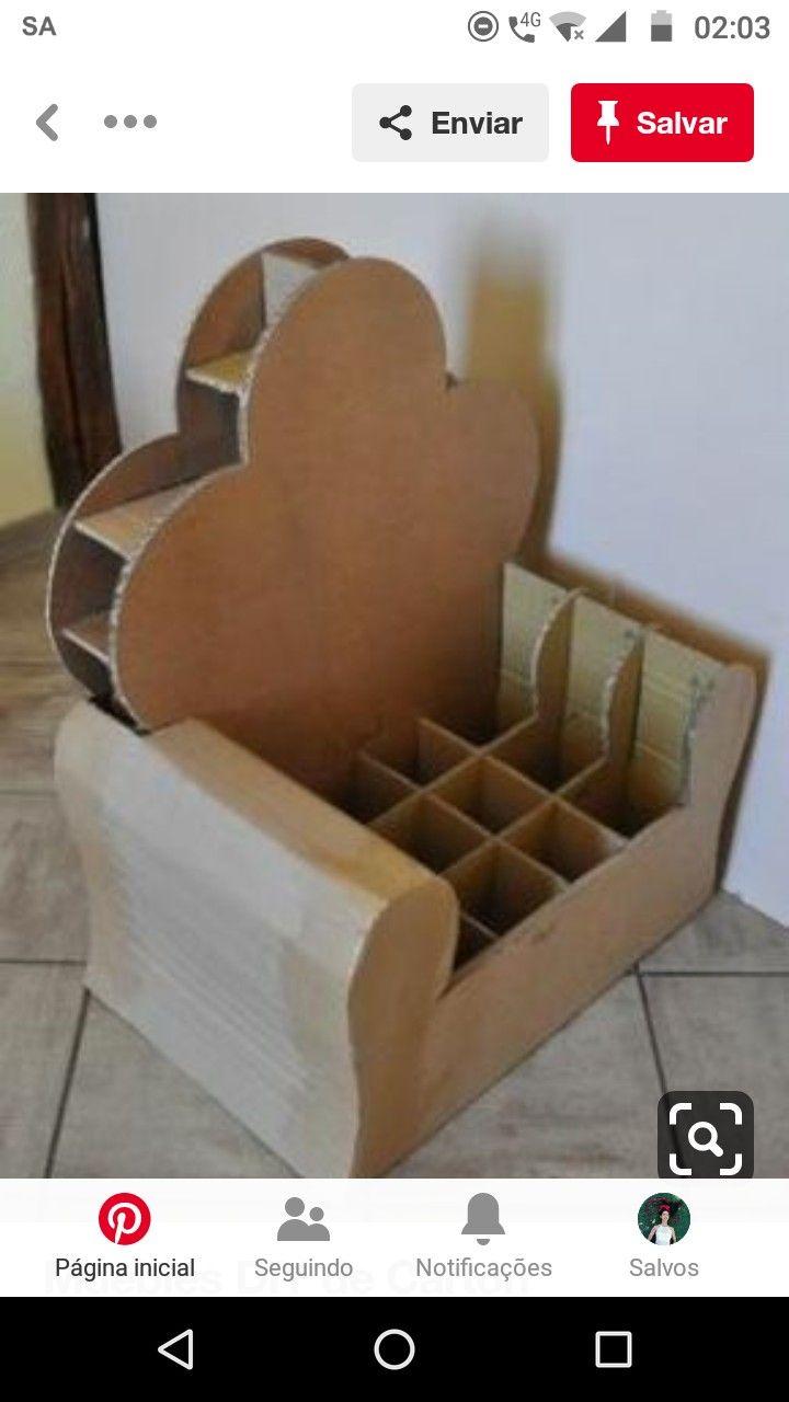 Pin De Yuliany Uzcategui En Todo Con Reciclaje Muebles De Carton
