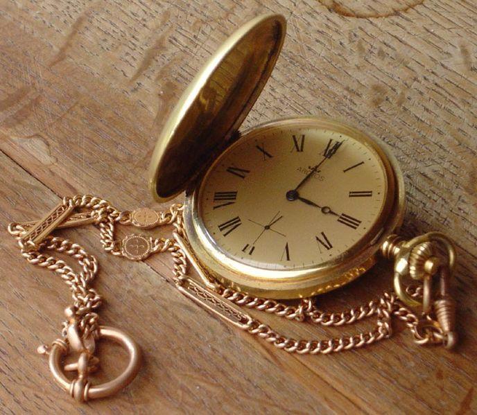 Relógio de bolso.