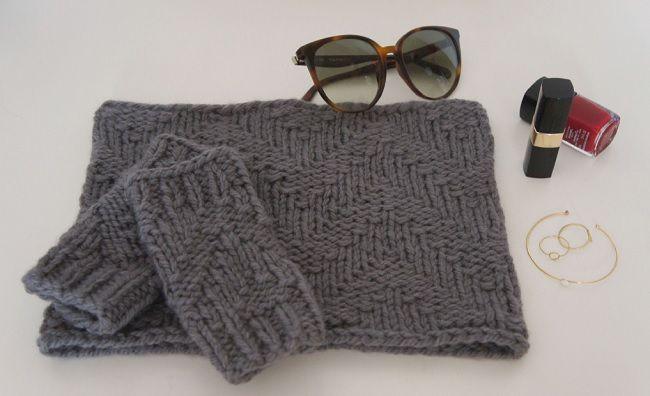 DIY tricot - Snood en laine Fonty - Perles & Co
