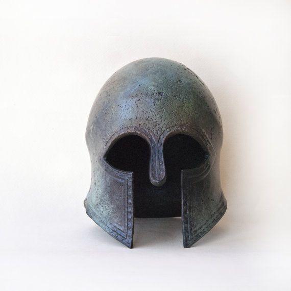 Greek Helmet Ancient Greek Metal Helmet War Army by GreekMythos