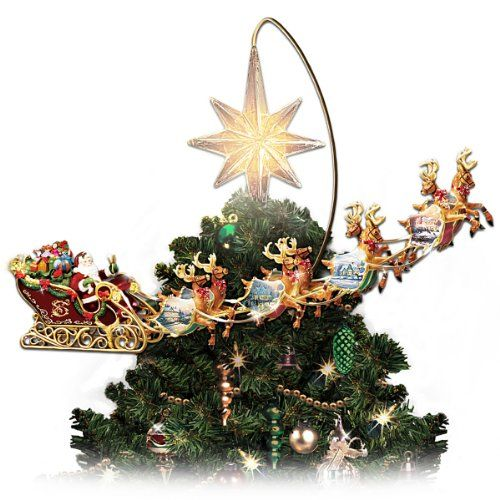 Thomas Kinkade Holidays In Motion Rotating Illuminated