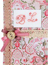 Розовые узоры (S)Р9, Luca-S, Праздничные открытки   интернет-магазин вышивки Stitch World