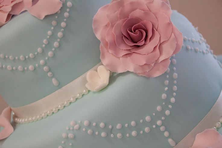 Gorgeous pastel coloured wedding cake with bead detail. http://www.lovephotography13weddings.co.uk/
