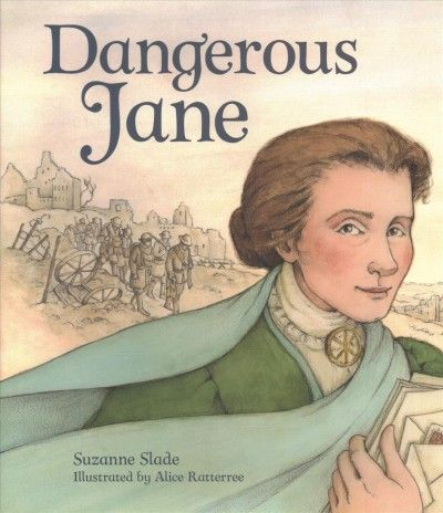 Dangerous Jane by Suzanne Slade (E B ADDAMS): Describes the life and accomplishments of the founder of Hull House, a settlement house in Chicago, where she provided aid to immigrant families and whose legacy is still evident today.