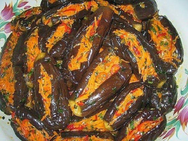 """Самые вкусные """"Манзаны"""" фаршированные баклажаны по-гречески"""