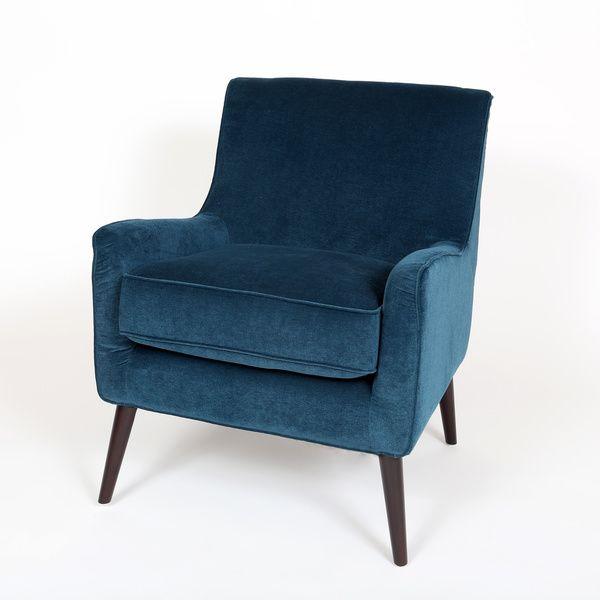 """$314.99  Dimensions: 26""""L x 32""""W x 32""""H Kristina Ocean Blue Accent Chair"""