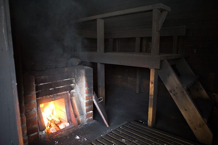 Finnish smoke(savu) sauna