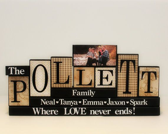 Gifts For Family Wooden Blocks Family Blocks by TimelessNotion