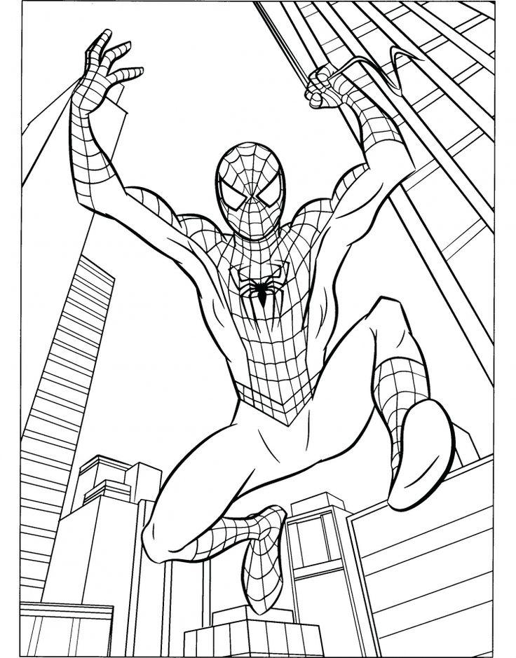 9 besten spiderman coloring pages bilder auf pinterest