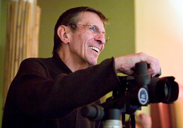 Leonard Nimoy passed away today at the age of 83. Back in 2010, the Star Trek legend unveiled an eye-opening portrait show at Mass MoCA called Secret Selves.